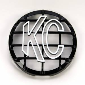 "Lighting - Lighting Accessories - KC HiLiTES - KC HiLiTES 6"" Stone Guard - KC #7210 (Black with White KC Logo) 7210"