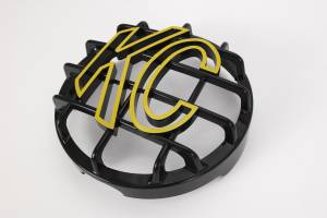 "KC HiLiTES - KC HiLiTES 6"" Stone Guard - KC #72101 (Black with Yellow KC Logo) 72101 - Image 3"