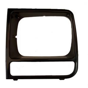 Omix-Ada LH Black Headlight Bezel; 97-01 Jeep Cherokee XJ 12419.17