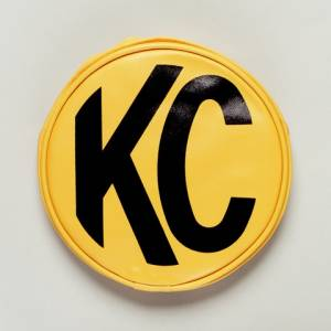 "KC HiLiTES - KC HiLiTES 6"" Vinyl Cover - KC #5101 (Yellow with Black KC Logo) 5101 - Image 1"
