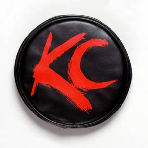 "Lighting - Lighting Accessories - KC HiLiTES - KC HiLiTES 6"" Vinyl Cover - KC #5110 (Black with Red Brushed KC Logo) 5110"