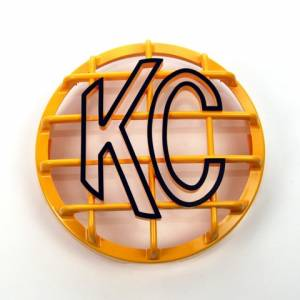 "KC HiLiTES - KC HiLiTES 6"" Stone Guard - KC #7213 (Yellow with Black KC Logo) 7213 - Image 1"