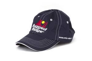 Apparel & Gear - Hats - Rugged Ridge - Rugged Ridge Hat, Rugged Ridge, Blue and White, Omix-ADA.com 14080.21