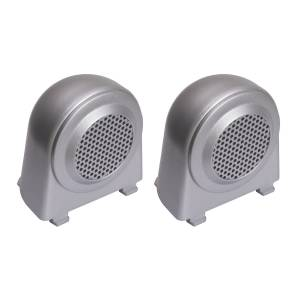Body Armor - Rocker Armor & Accessories - Rugged Ridge - Rugged Ridge Tweeter Speaker Enclosures, Brushed Silver; 07-10 Jeep Wrangler JK 11151.11