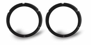 Lighting - Mounts & Wiring - KC HiLiTES - KC HiLiTES KC FLEX Bezels - Black ED Coated (pair) 30551