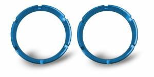 Lighting - Mounts & Wiring - KC HiLiTES - KC HiLiTES KC FLEX Bezels - Blue ED Coated (pair) 30553
