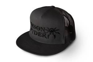 Apparel & Gear - Hats - Poison Spyder - Poison Spyder Poison Spyder Snapback - Grey Black 50-46-281