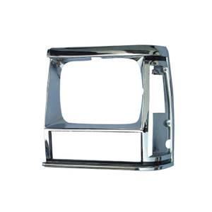 Omix-Ada LH Chrome Headlight Bezel; 84-90 Jeep Cherokee XJ/MJ 12419.11