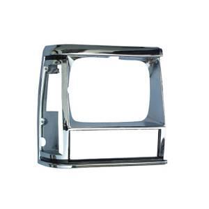 Omix-Ada RH Chrome Headlight Bezel; 84-90 Jeep Cherokee XJ 12419.12