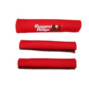 Rugged Ridge Neoprene Door and Grab Handle Covers, Red; 87-95 Jeep Wrangler YJ 13305.51