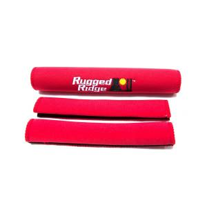 Interior - Handles - Rugged Ridge - Rugged Ridge Neoprene Door and Grab Handle Covers, Red; 97-06 Jeep Wrangler TJ 13305.53