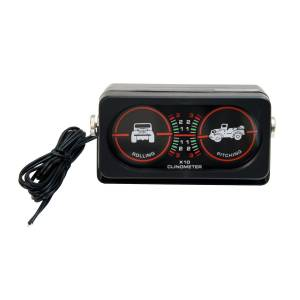 Electrical - Gauges & Pods - Rugged Ridge - Rugged Ridge Clinometer with Light, Universal 13309.02