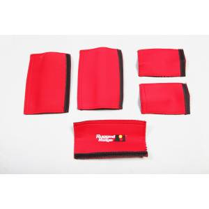 Interior - Handles - Rugged Ridge - Rugged Ridge Grab Handle Kit, Red; 07-10 Jeep Wrangler JKU 13305.55