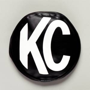 "KC HiLiTES - KC HiLiTES 8"" Vinyl Cover - KC #5800 (Black with White KC Logo) 5800 - Image 1"
