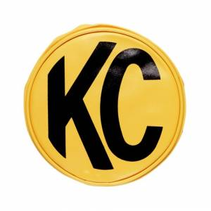 "KC HiLiTES - KC HiLiTES 8"" Vinyl Cover - KC #5801 (Yellow with Black KC Logo) 5801 - Image 1"