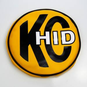 "KC HiLiTES - KC HiLiTES 8"" Vinyl Cover - KC #5819 (Yellow with KC HID Logo) 5819 - Image 1"