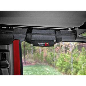 Interior - Handles - Rugged Ridge - Rugged Ridge Neoprene Grab Handles, Black; 55-16 Jeep CJ/Wrangler YJ/TJ/JK 13305.30