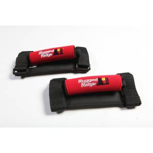 Interior - Handles - Rugged Ridge - Rugged Ridge Neoprene Grab Handles, Red; 55-16 Jeep CJ/Wrangler YJ/TJ/JK 13305.31