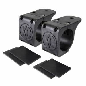 "KC HiLiTES - KC HiLiTES Tube Clamp Mount Bracket Pair for 1.75"" to 2"" Round Light Bars - #73071 73071 - Image 1"