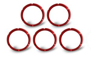 KC HiLiTES - KC HiLiTES KC FLEX Bezels -  Red ED Coated (5 pack) 30564 - Image 3
