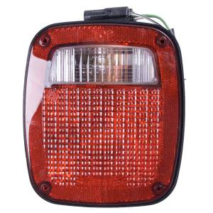Lighting - Headlights - Omix-Ada - Omix-Ada Left Black Tail Lamp; 91-97 Jeep Wrangler YJ/TJ 12403.13