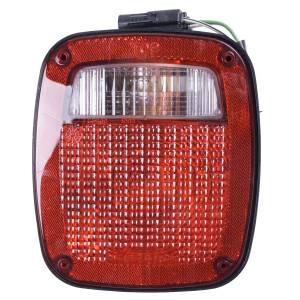 Omix-Ada Left Black Tail Lamp; 91-97 Jeep Wrangler YJ/TJ 12403.13