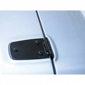 Axle Parts - Diff Covers - Rugged Ridge - Rugged Ridge Hood Hinges, Black; 76-95 Jeep CJ/Wrangler YJ 11205.01