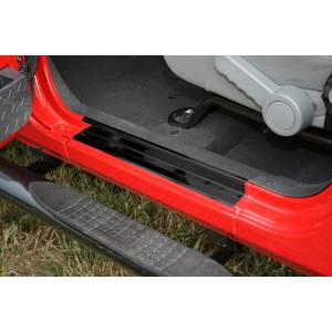Exterior - Bumpers - Rugged Ridge - Rugged Ridge Door Entry Guard Set, Black; 07-16 Jeep Wrangler JK 11216.10