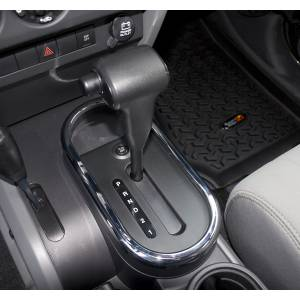 Drivetrain - Drivetrain Accessories - Rugged Ridge - Rugged Ridge Transmission Shifter Trim, Chrome Automatic; 07-10 Jeep Wrangler JK 11156.02