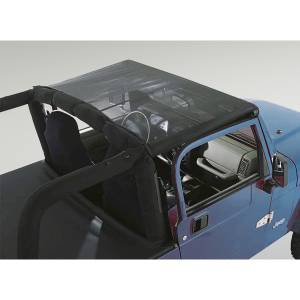 Exterior - Soft Tops - Rugged Ridge - Rugged Ridge Mesh Summer Brief; 97-06 Jeep Wrangler TJ 13576.01