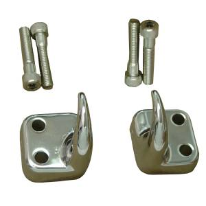 Wheels & Tires - Accessories - Rugged Ridge - Rugged Ridge Front Tow Hooks, Chrome; 97-06 Jeep Wrangler TJ 11303.01