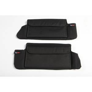 Interior - Handles - Rugged Ridge - Rugged Ridge Sun Visor Organizers, Black; 07-09 Jeep Wrangler JK 13305.07