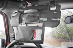 Interior - Storage & Cargo Baskets - Rugged Ridge - Rugged Ridge Sun Visor Organizers, Black; 10-16 Jeep Wrangler JK 13305.08