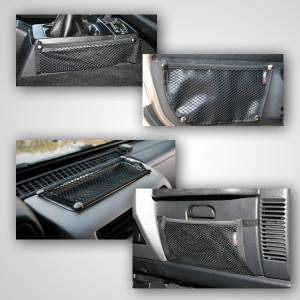 Interior - Roll Cages - Rugged Ridge - Rugged Ridge Interior Mesh Storage Kit; 97-06 Jeep Wrangler TJ 12495.11