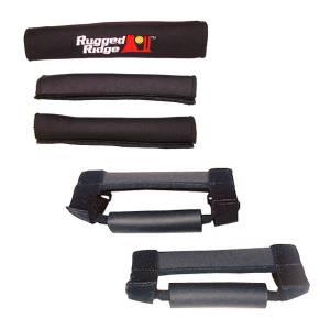 Rugged Ridge Grab Handle Kit, Black; 97-06 Jeep Wrangler TJ/LJ 13505.15