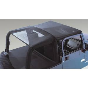 Exterior - Soft Tops - Rugged Ridge - Rugged Ridge Mesh Header Roll Bar Top; 97-06 Jeep Wrangler TJ 13578.01