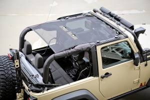 Exterior - Soft Tops - Rugged Ridge - Rugged Ridge Eclipse Sun Shade, Black, 2 Door; 07-16 Jeep Wrangler JK 13579.06