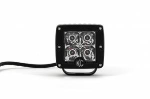 "KC HiLiTES - KC HiLiTES 3"" C-Series C3 LED Spot with Amber LED Black Single - #1315 1315 - Image 3"