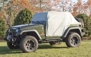 Tonneau Covers & Accessories - Truck Bed Accessories - Rugged Ridge - Rugged Ridge Weather Lite Cab Cover; 07-16 Jeep Wrangler JK 13317.10