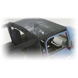 Exterior - Soft Tops - Rugged Ridge - Rugged Ridge Mesh Summer Brief Top; 07-09 Jeep Wrangler JK 13579.02