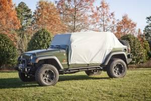 Tonneau Covers & Accessories - Truck Bed Accessories - Rugged Ridge - Rugged Ridge Weather Lite Cab Cover; 07-16 Jeep Wrangler JKU 13318.10