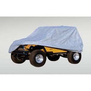 Tonneau Covers & Accessories - Truck Bed Accessories - Rugged Ridge - Rugged Ridge Weather Lite Full Jeep Cover; 76-95 Jeep CJ/Wrangler YJ 13321.51