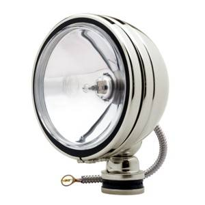 "Lighting - Off Road Lights - KC HiLiTES - KC HiLiTES 6"" Daylighter Halogen - Stainless Steel - KC #1239 (Spot Beam) 1239"