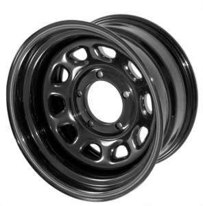 Wheels & Tires - Wheels - Rugged Ridge - Rugged Ridge D Window Wheel, 15x8, Black, 5x4.5 15500.01