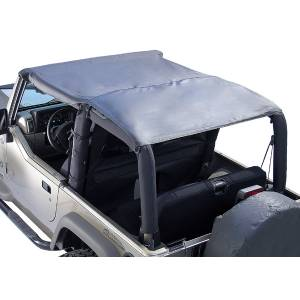 Exterior - Soft Tops - Rugged Ridge - Rugged Ridge Header Roll Bar Top, Black Diamond; 97-06 Jeep Wrangler TJ 13581.35