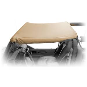 Exterior - Soft Tops - Rugged Ridge - Rugged Ridge Pocket Brief Top, Khaki Diamond; 07-09 Jeep Wrangler JK 13587.36