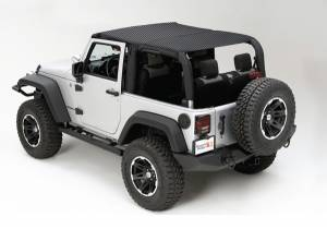 Exterior - Soft Tops - Rugged Ridge - Rugged Ridge Mesh Island Top; 10-16 Jeep Wrangler JKU 13579.13