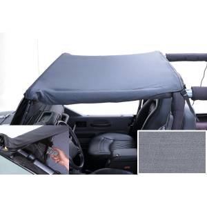 Exterior - Soft Tops - Rugged Ridge - Rugged Ridge Pocket Brief Top, Gray; 92-95 Jeep Wrangler YJ 13584.09