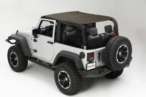 Exterior - Soft Tops - Rugged Ridge - Rugged Ridge Pocket Brief Top, Diamond Khaki; 10-16 Jeep Wrangler JK 13590.36