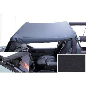 Exterior - Soft Tops - Rugged Ridge - Rugged Ridge Pocket Brief Top, Black Diamond; 87-91 Jeep Wrangler YJ 918315